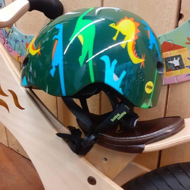 We now also have cool, crazy and pretty helmets from Nutcase! Not only the graphics make these helmets unique. Also their fit is luxurious and the strap lock works with a magnet so you don't have to pinch your own or kid's throat skin any more :-) All #nutcase #helmets are equipped with MIP for extra brain protection.  #pyöräilykypärä